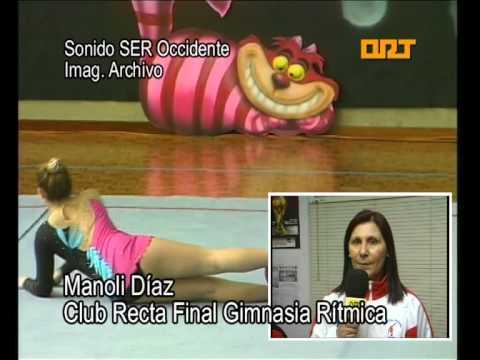 La Internacional Claudia Heredia en el Campus de Gimnasia Rítmica de Luarca