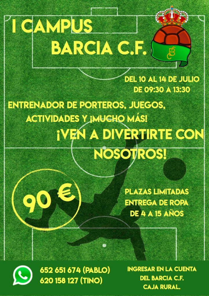 El Barcia CF organiza su I Campus de Verano