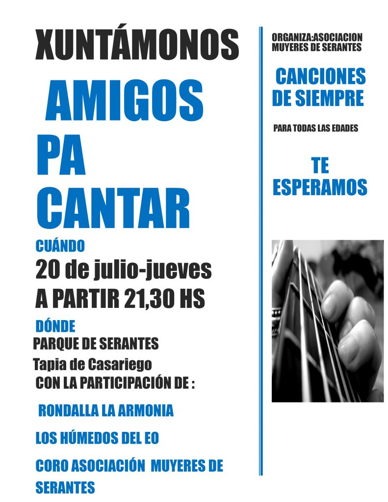 """Xuntámonos amigos pa cantar"" en el Parque de Serantes (Tapia de Casariego)"