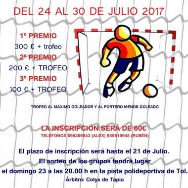 Torneo de Fútbol Sala en Tol (Castropol) del 24 al 30 de julio