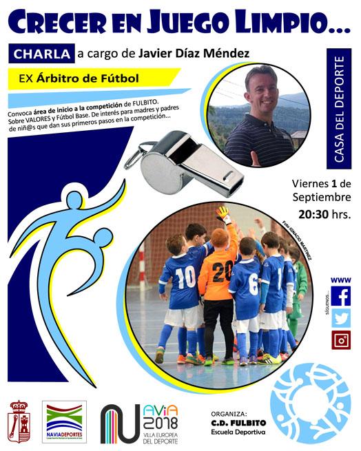 Charla del ex-árbitro Javier Díaz, en la Casa del Deporte de Navia