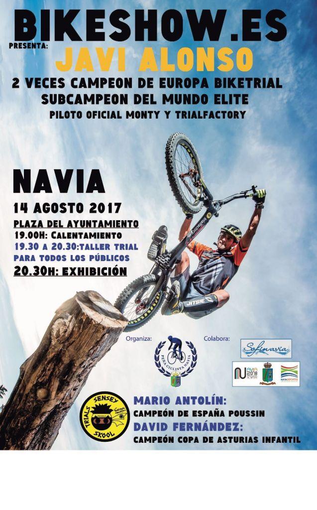 Exhibición en Navia del Sub-Campeón del Mundo de Biketrial