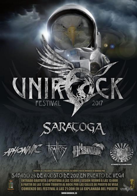 IV Festival Unirock, el sábado, 26 de agosto, en Puerto de Vega