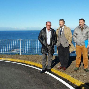 El Principado invierte 44.165 euros en la mejora de la carretera entre El Pardo y los miradores de Peña Furada (Navia)