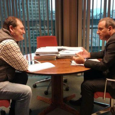 Satisfacción de Álvarez tras el encuentro mantenido con el consejero de Infraestructuras