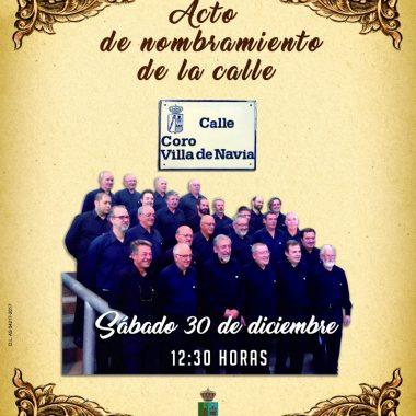 El Coro Villa de Navia dará su nombre, desde este sábado, a una calle de la villa