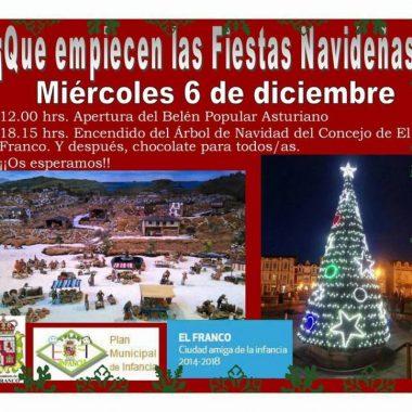 El Franco inaugura alumbrado navideño este 6 de diciembre