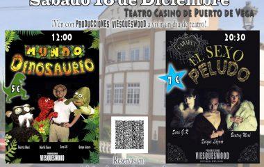 Teatro para niños y para adultos, este sábado, en el Casino de Puerto de Vega