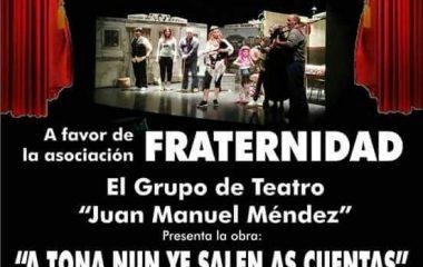 El grupo de teatro Juan Manuel Méndez recauda más de 1.000 € a favor de la asociación Fraternidad