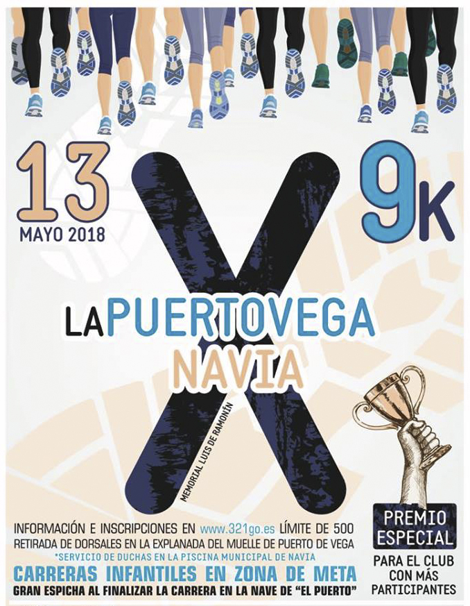 Todo preparado para la X Carrera Popular Puerto Vega-Navia que ya cuenta con más de 500 inscritos