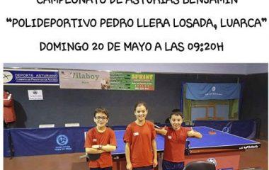 Luarca acoge el Campeonato de Asturias Benjamín de Tenis de Mesa