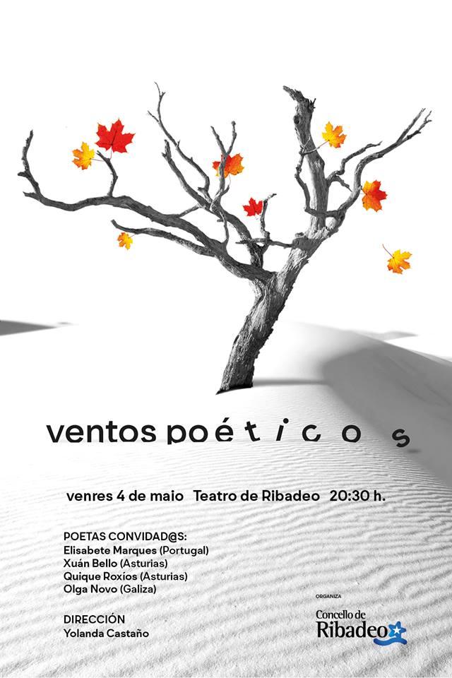 II Edición de Ventos Poéticos, este 4 de mayo, en el Teatro de Ribadeo