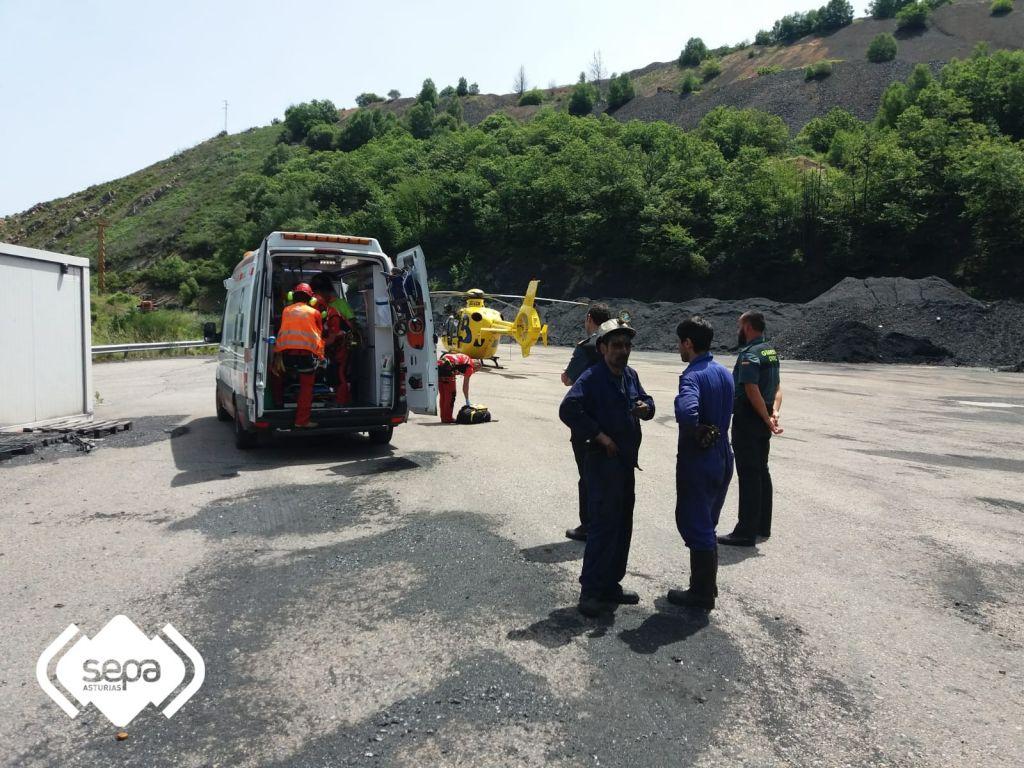 Herido un minero en Pilotuerto (Tineo) al producirse un derrabe de carbón