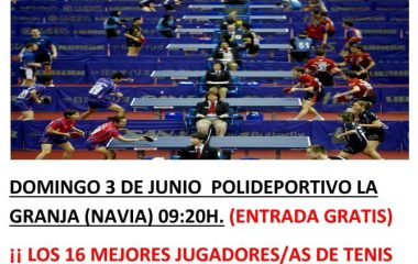 Navia acoge el Campeonato de Asturias Infantil de Tenis de Mesa