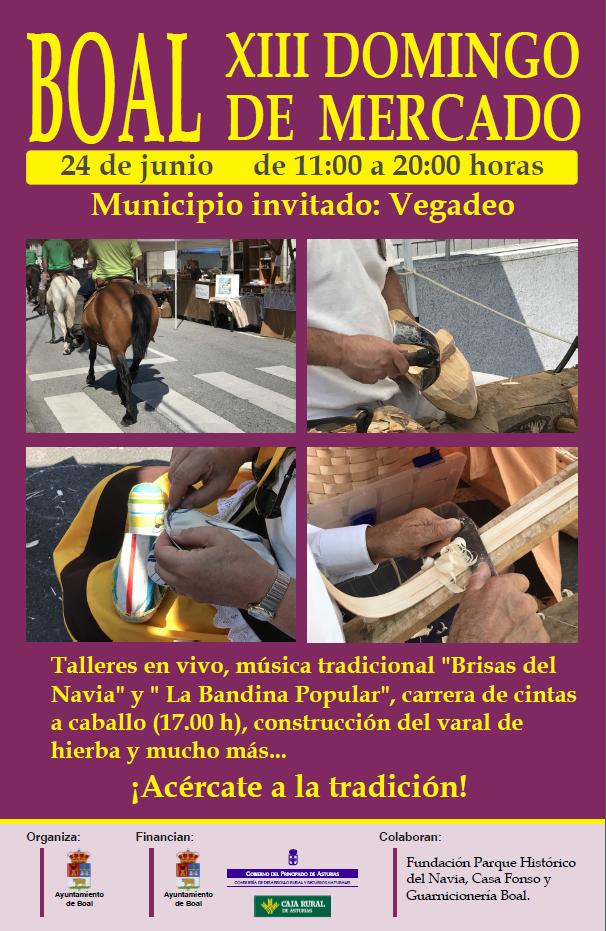 XIII Domingo de Mercado en Boal, el 24 de junio