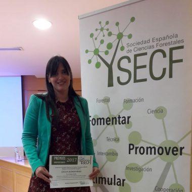 La santirseña Cecilia Alonso, premiada por la Sociedad Española de Ciencias Forestales
