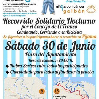 El Pijama Solidario del Franco, a favor del Asociación Galbán de Familias de Pequen@s con Cáncer