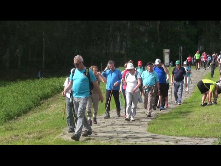 Unos 1.600 senderistas participaron en la XXXI Travesía Costa Naviega