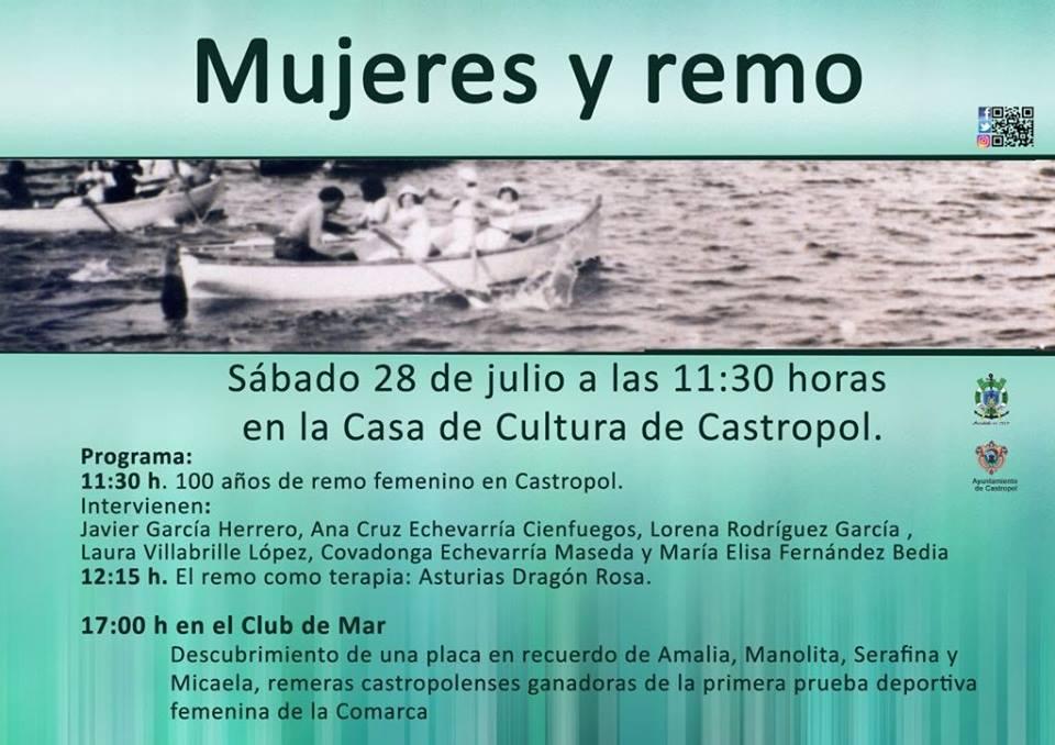 Conmemoración del Centenario del Remo Femenino en Castropol