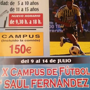 """Trevías acoge del 9 al 14 de Julio el Campus de Fútbol """"Saúl Fernández"""""""