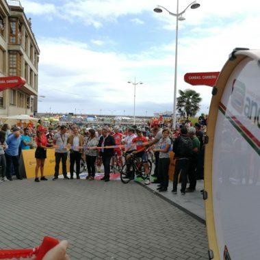 Salida de la 1ª Etapa Asturiana de la Vuelta Ciclista a España en Candás