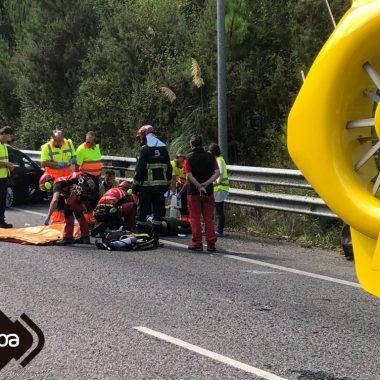Accidente de Tráfico con Dos Heridos en Valdés