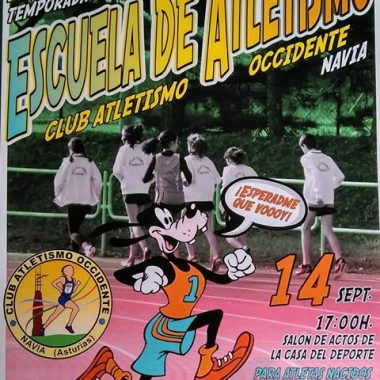 Presentación de la Escuela de Atletismo del CAO Navia