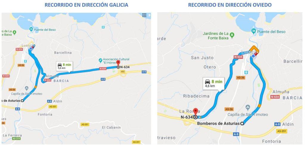 El PP de Valdés pide soluciones para que los Bomberos del Parque de Luarca puedan llegar a la Autovía con mayor celeridad