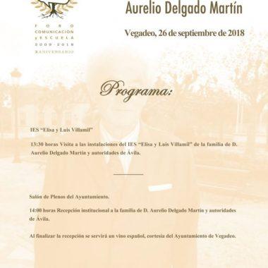 Homenaje a Aurelio Delgado Martín del Foro Comunicación y Escuela de Vegadeo