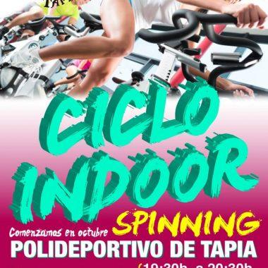 Ciclo Indoor (Spinning) en el polideportivo de Tapia