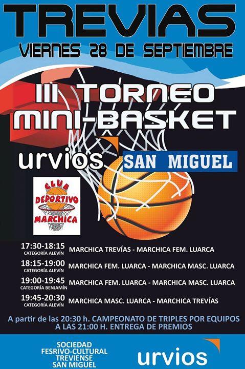 """III Torneo de Minibasket """"San Miguel"""" en Trevías"""