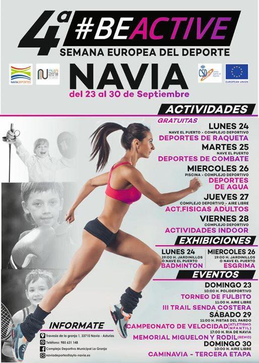 Navia celebra con distintas actividades la 4ª Semana Europea del Deporte