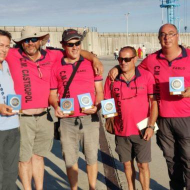 El Club de Mar de Castropol, Subcampeón de Asturias de Pesca Deportiva en Embarcación Fondeada