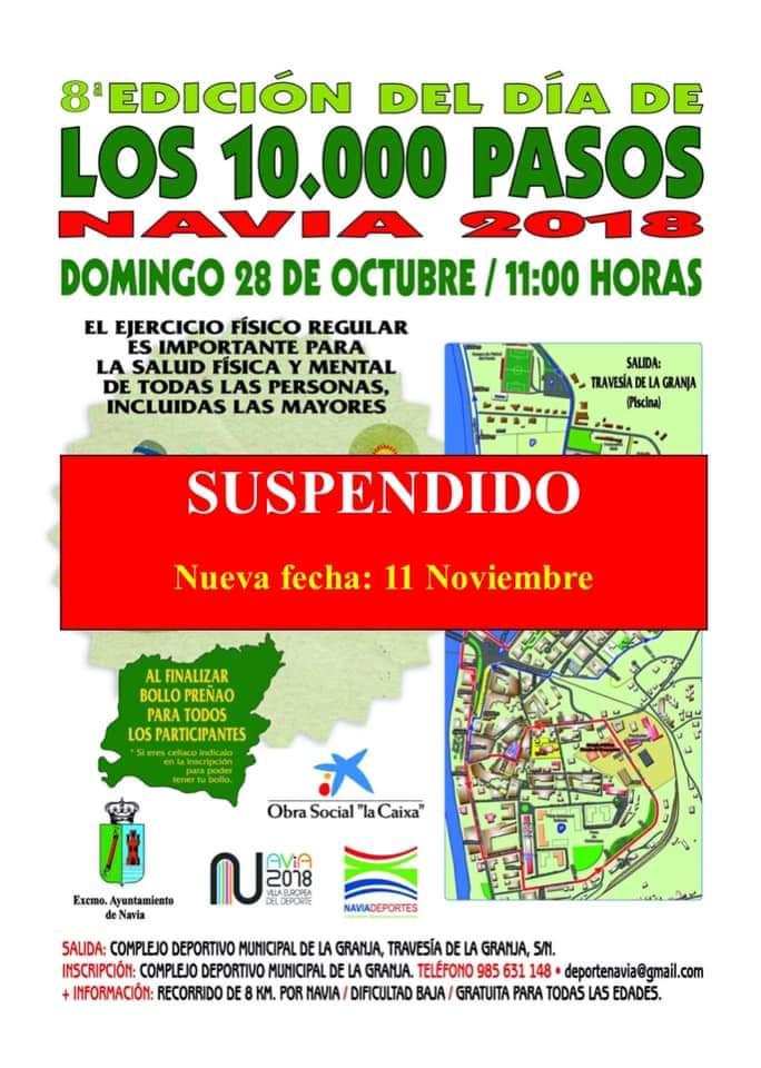 Aplazado para el 11 de Noviembre el Día de los 10.000 Pasos de Navia