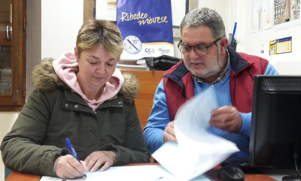Convenio de Colaboración entre ACISA y Ribadeo FC para que sus asociados tengan precios especiales para publicitarse en el Campo de Fútbol