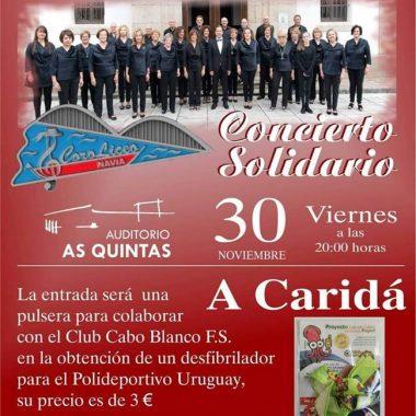 Concierto Solidario en La Caridad pro Desfibrilador para el Polideportivo Municipal