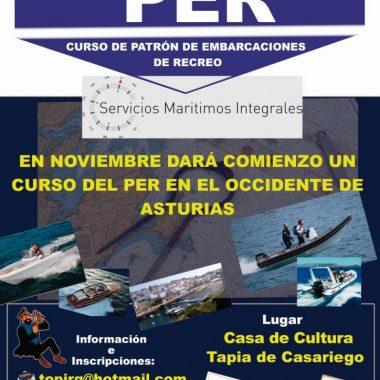 Curso de Patrón de Embarcación de Recreo en Tapia