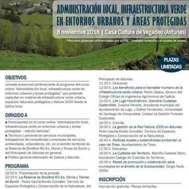Jornada sobre Administración Local e Infraestructura Verde, en Vegadeo