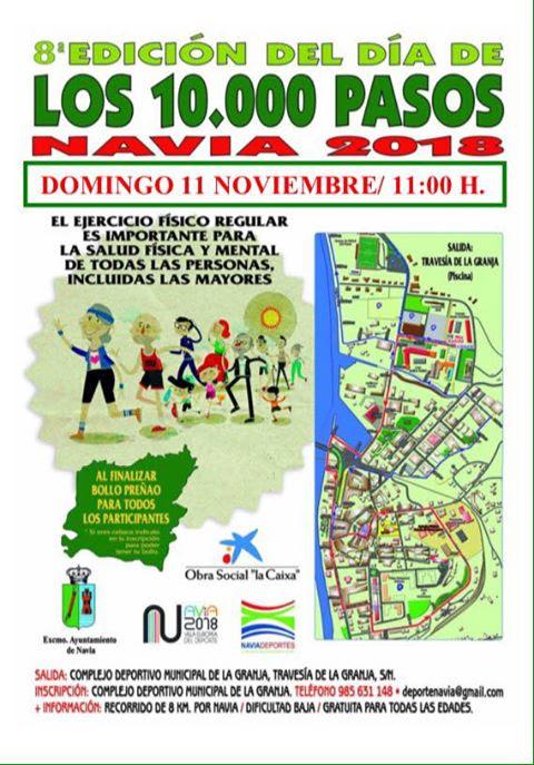 Navia celebra el domingo la 8ª edición del Día de los 10.000 pasos