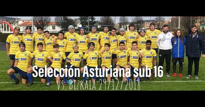 Triunfo de las Selecciones Vizcainas de Rugby frente a las Asturianas en Gijón