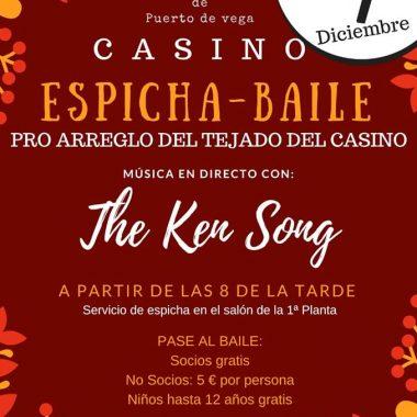 Espicha-baile en favor de la reparación del Casino de Puerto de Vega (Navia)