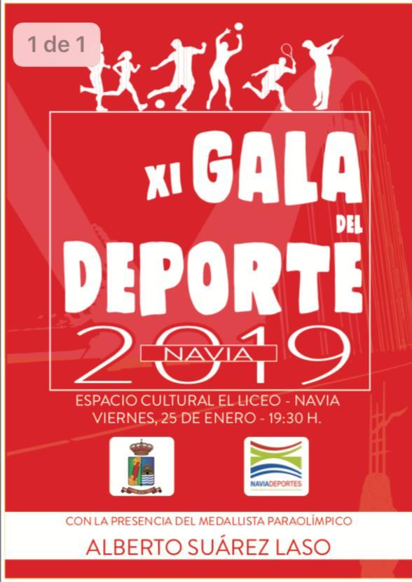 La Gala del Deporte de Navia contará con la Presencia del doble Medallísta Paralímpico Alberto Suárez Laso
