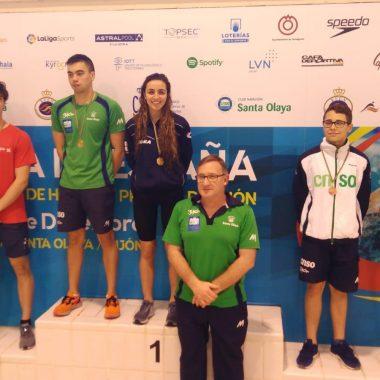Buena actuación de Sabina Pérez en el Campeonato de Asturias de Invierno de Natación