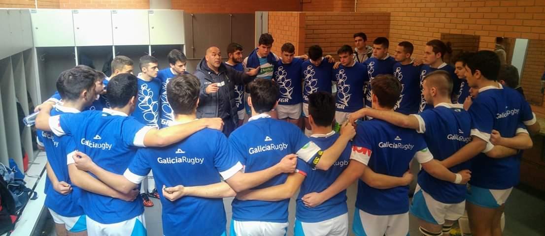 La Selección Gallega de Rugby Sub-18 se concentra en Ribadeo después de su partido amistoso en Portugal