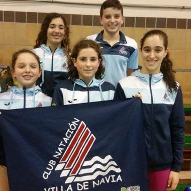 Siete Medallas para el Club Natación Villa de Navia en el Regional de Invierno