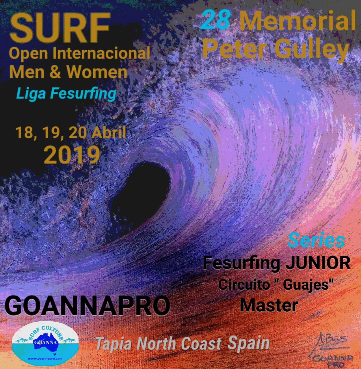 Avance del Campeonato de Surf Memorial Peter Gulley de Tapia 2019