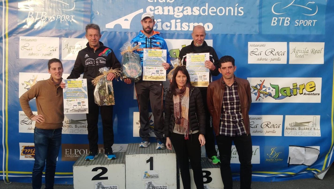 Manuel Fernández (Cuenca del Navia Triatlón), Subcampeón en Veteranos 3 del VI Duatlón de Cangas de Onis
