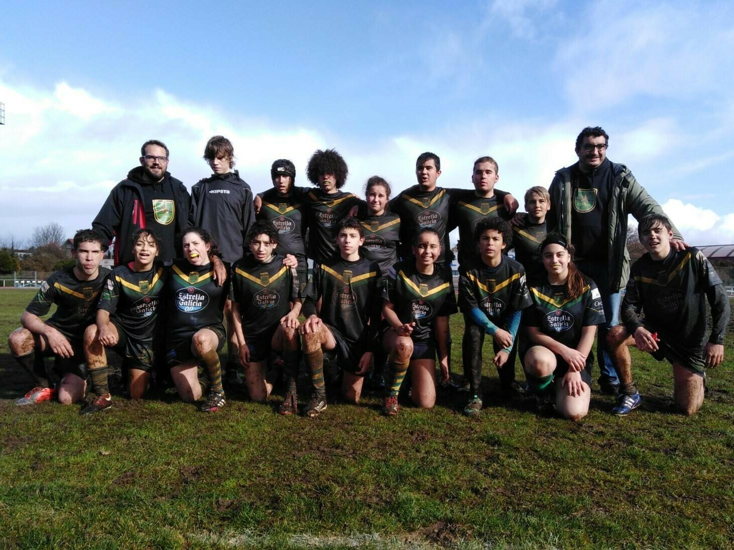 El Beone Ribadeo Rugby Sub-16 termina la fase regular en 5ª posición al caer derrotado en Ferrol