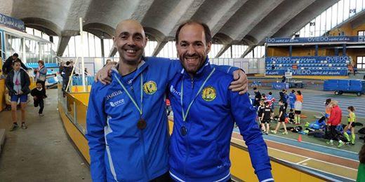 Tres medallas para el Club Atletismo Occidente en el Regional Máster de Pista Cubierta