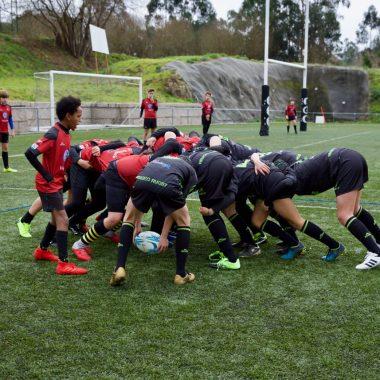 El Beone Rugby Sub-14 vence en Pontevedra y se mantiene con Opciones de Jugar la Final de Liga